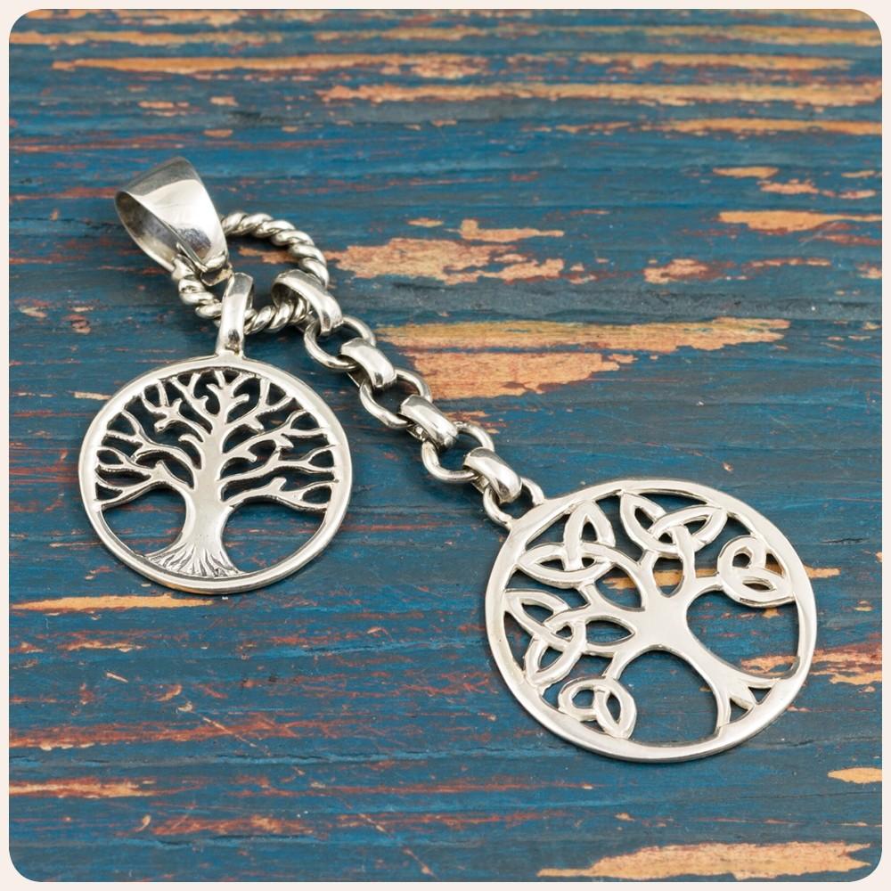 """Сребърен медальон """"Дървото на живота"""""""