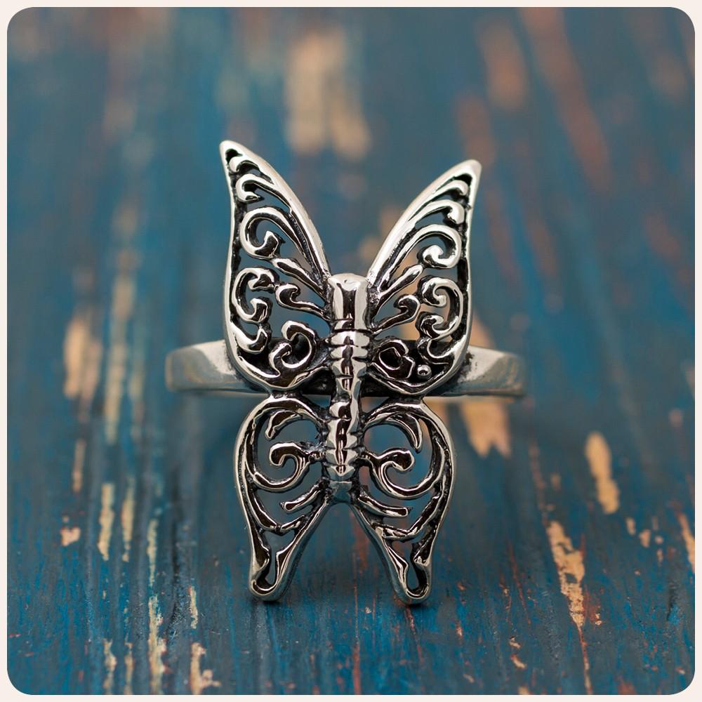 """Сребърен пръстен """"Пеперуда"""""""