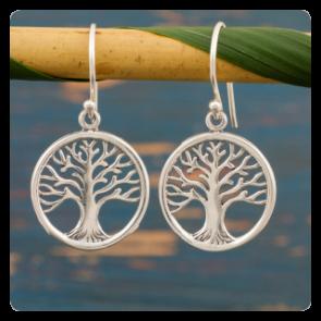 """Сребърни обеци """"Дървото на живота"""""""
