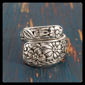 """Сребърен пръстен """"Цветна градина"""""""