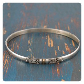 Гривна сребро със злато