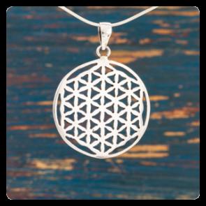 """Сребърен медальон """"Цветето на Живота"""""""