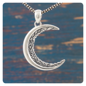 "Сребърен медальон ""Луна"""