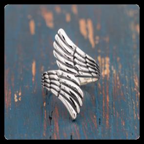 """Сребърен пръстен """"Ангелски крила"""""""