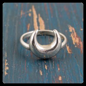 """Сребърен пръстен """"Луна"""""""