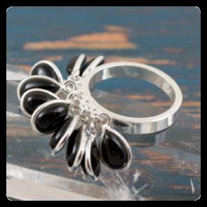 Сребърен пръстен с оникс
