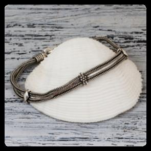 Сребърна гривна за ръка