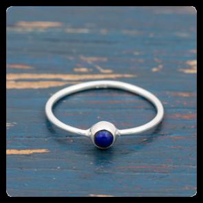 Мини сребърен пръстен с лапис лазули