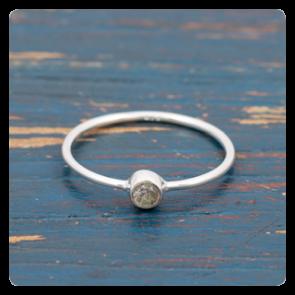 Мини сребърен пръстен с лабрадорит