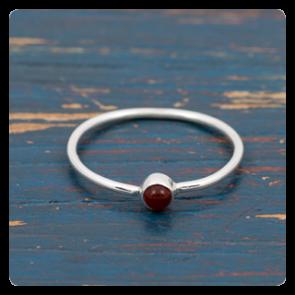 Мини сребърен пръстен с карнеол