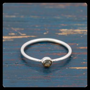 Мини сребърен пръстен с топаз