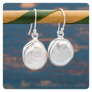 Сребърни обеци с барокови перли